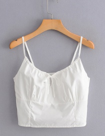 Fashion White Bow Elasticated Sling Vest