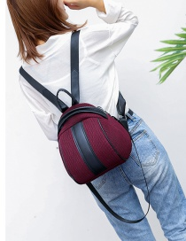 Fashion Red Woven Mesh Backpack