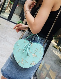 Fashion Green Crossbody Chain Lace Embroidered Shoulder Tote