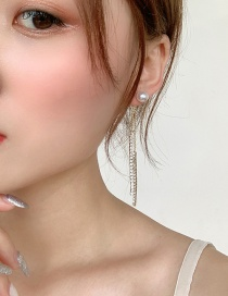 Fashion Gold (tassel) Studded Tassel Earrings