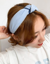 Fashion Blue Wide-brimmed Knotted Headband