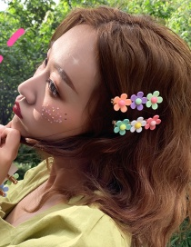 Fashion Color System Small Flower Hair Clip