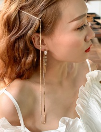 Fashion Gold 925 Silver Needle Tassel Imitation Pearl Earrings