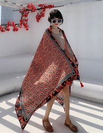 Fashion Dazzling World Cotton And Linen Printed Scarves
