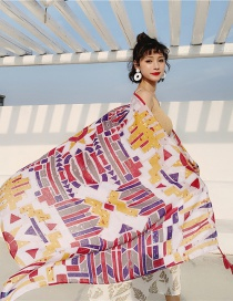 Fashion Color Cotton And Linen Printed Scarves
