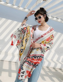 Fashion Abstract Flower Cotton And Linen Printed Scarves