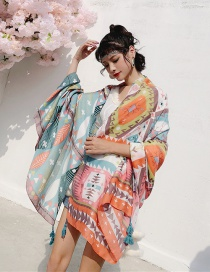 Fashion Nationality Cotton And Linen Printed Scarves
