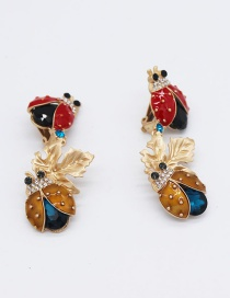 Fashion Gold Beetle Geometric Metal Ear Clip
