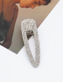 Fashion Small Diamond Silver Diamond Pearl Hair Clip