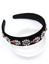 Fashion Black Full Diamond Gemstone Geometric Headband