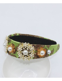 Fashion Green Pearl Flower Full Of Colorful Party Headband