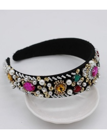 Fashion Colorful Diamond Sewing Rice Beads Headband