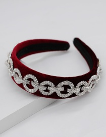 Fashion Red Full Chain Type Headband