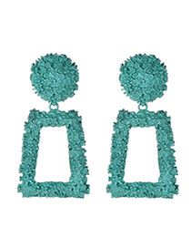 Fashion Green Alloy Diamond Earrings