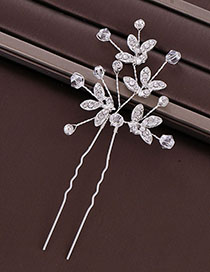 Fashion Silver Crystal Hairpin