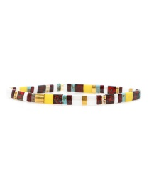 Fashion Color Woven Rice Beads Bracelet