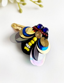 Fashion Color Alloy Felt Cloth Rhinestone Insect Hairpin
