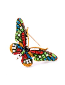 Fashion Colored Brooch Flower Butterfly With Diamond Brooch