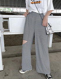 Fashion Stripe Striped Knit Pants