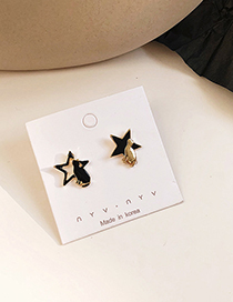 Fashion Pentagram Cartoon Cat Starry Sky Asymmetric Earrings