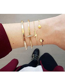 Fashion Gold Alloy Lightning Bracelet Set