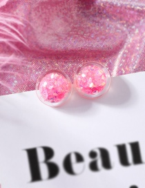Fashion Pink (diamond) Fruit Smiley Love Transparent Ball Earrings