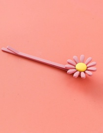 Fashion Pink (long Section) Frosted Candy Color Hair Clip