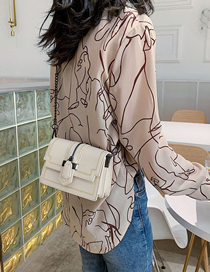 Fashion White Contrast Shoulder Shoulder Bag