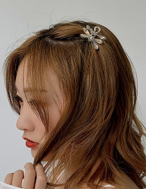 Fashion White Crystal Hair Clip