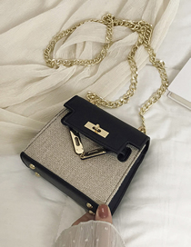 Fashion Black Trumpet Crossbody Handbag