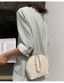Fashion White Shoulder Diagonal Chain Bag