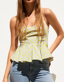 Fashion Wave Point Polka Dot Top