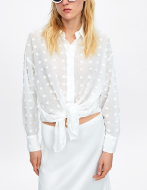 Fashion White Polka Dot Shirt