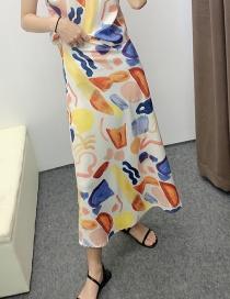 Fashion Color Graffiti Skirt
