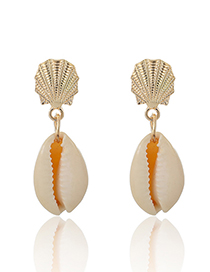 Fashion Gold Shell Alloy Conch Earrings