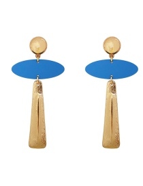 Fashion Blue Painted Geometric Alloy Stud Earrings