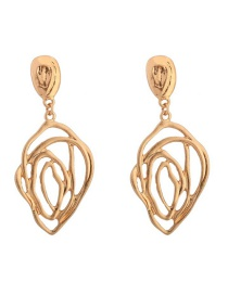 Fashion Gold Spider Web Cutout Rosette Earrings