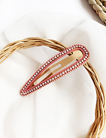 Fashion Red Alloy Resin Triangle Hairpin