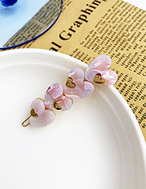 Fashion Pink Alloy Four Love Hair Clips