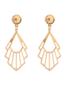 Fashion Gold Hollow Metal Alloy Earrings
