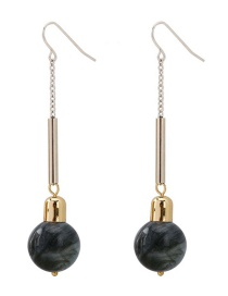 Fashion Silver Round Beaded Earrings