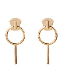 Fashion Gold Circle Alloy Earrings