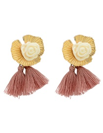 Fashion Gold Acrylic Resin Wire Earrings