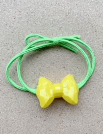 Fashion Light Yellow Bow Hair Ring