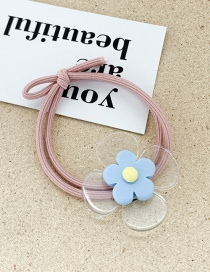 Fashion Blue Flower Soft Pottery Flower Hair Ring