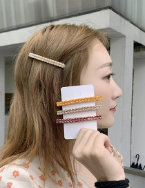 Fashion Light Purple Imitation Pearl Hairpin