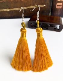 Fashion Ginger Yellow Alloy Tassel Earrings