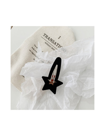 Fashion Frosted Section-black Star Love Hairpin