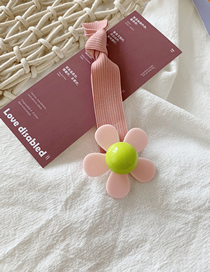 Fashion Pink Flowers Contrast Flowers: Knotted Rubber Bands