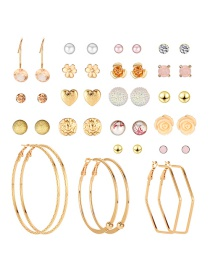 Fashion Color Resin-studded Earrings Set (20 Pairs)